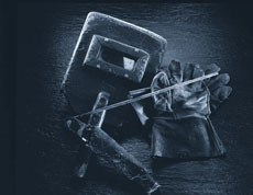 Old welding accessories.